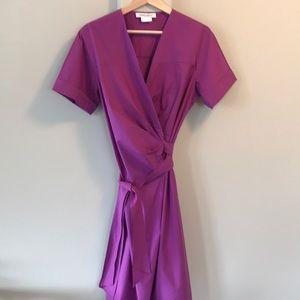 Marina Rinaldo orchid cotton blend wrap top dress